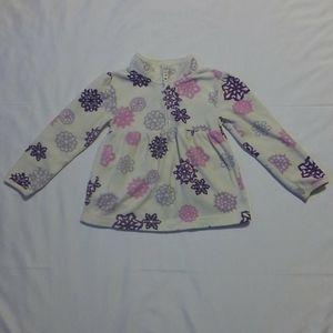 Girls Old Navy Fleece Dress Snowflake 5T 1/4 Zip
